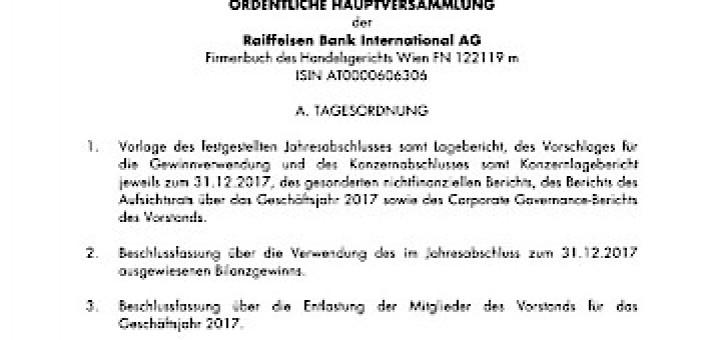 Börse Express - EANS-Hauptversammlung: Raiffeisen Bank International ...